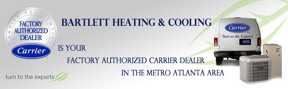 aFor your Carrier Air Conditioner repair in Smyrna GA, choose Bartlett Heating and Cooling Inc.